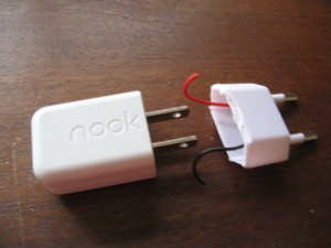 the nook power supply and the fixing part