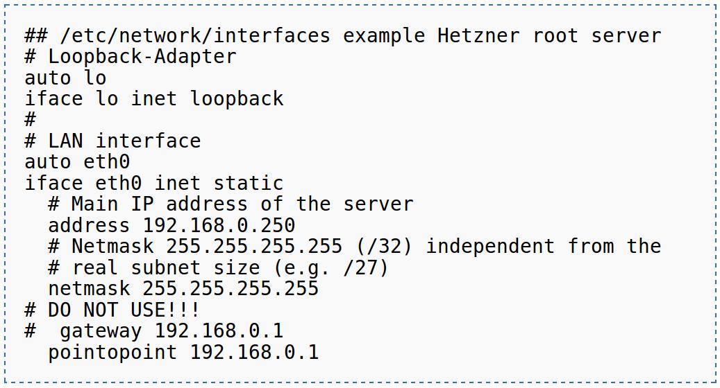 Hetzner Network Conf