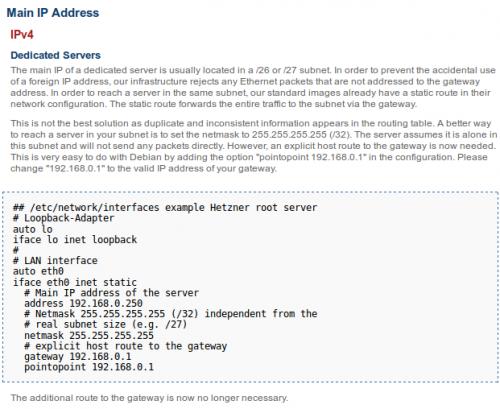 hetzner network info