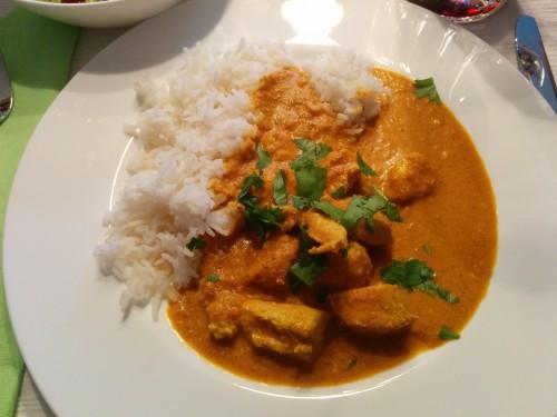 das Endresultat: Butter Chicken mit Reis